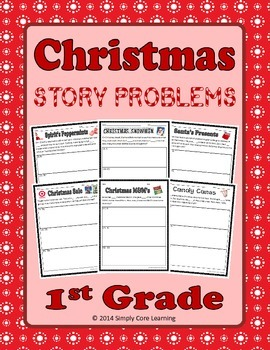 1st Grade Christmas Story Problems