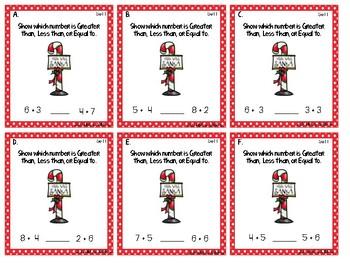 1st Grade Christmas Task Cards - Math