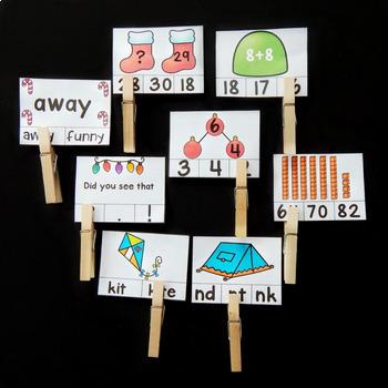 1st Grade Clip Cards - December