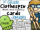 1st Grade Clip Cards - January