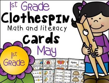 1st Grade Clip Cards - May
