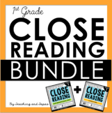 1st Grade Close Reading - Informational AND Literature BUNDLE (100 passages)