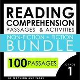1st Grade Close Reading Passages and Activities BUNDLE (Fi