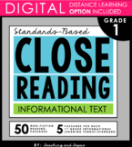1st Grade Close Reading Passages and Activities (Informational Text)