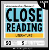 1st Grade Close Reading Passages and Activities (Literature)