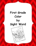 1st Grade Color By Sight Word