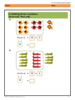 Singapore Mastery Method 1st Grade Addition Common Core (numbers to 20)