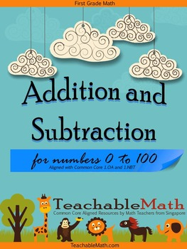 1st Grade Common Core Addition and Subtraction using number bond
