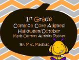 1st Grade Halloween/October Common Core Aligned Math Centers Activity Packet
