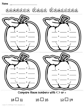 1st Grade Math Mini Packet for October *Common Core Aligned*