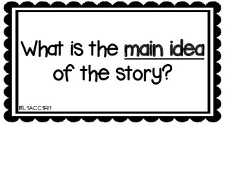 1st Grade Common Core Aligned Reading Task Cards and Essential Questions