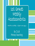 Free 1st Grade Weekly Assessment/Test  - 1 test (Common Core)