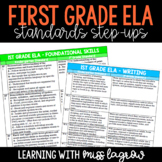 1st Grade Common Core CCSS ELA Standards Step-Ups Referenc