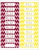 1st Grade Common Core CCSS Labels and Posters Math and ELA-Chevron