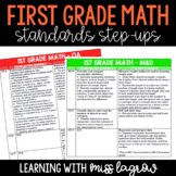 1st Grade Common Core CCSS Math Standards Step-Ups Referen