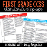 1st Grade Common Core CCSS Standards Step-Ups Reference Ch