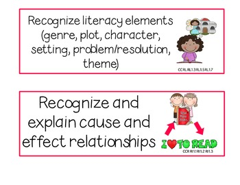 1st Grade Common Core Cafe Reading Strategies