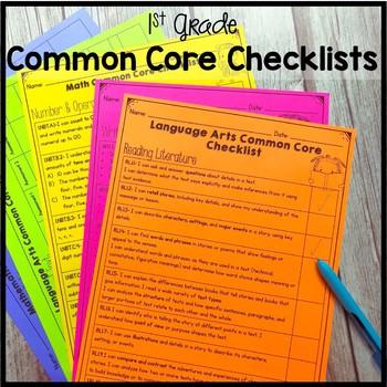 1st Grade Common Core Checklists
