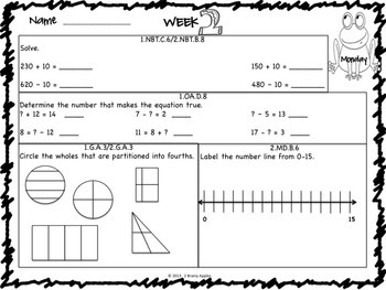 Math Morning Work 1st Grade Bundle Editable