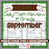 Math Morning Work 1st Grade September Editable