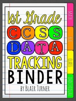 1st Grade Common Core Data Tracking Binder {EDITABLE!}