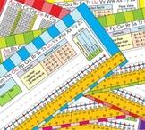 1st Grade Common Core Desk Plates Stripes