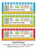 1st Grade Common Core Desk Plates Stripes Editable