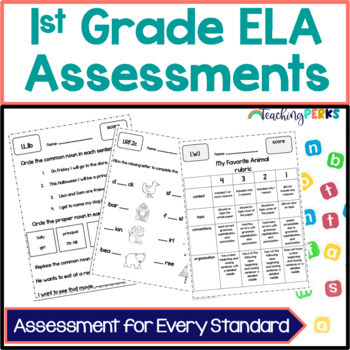 1st Grade Common Core ELA Assessments {without standard posters}