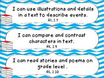 1st Grade Common Core ELA I Can Statement Cards