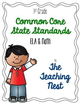 1st Grade Common Core ELA & Math Standards
