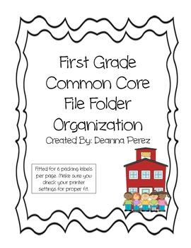 1st Grade Common Core File Folder Labels
