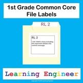 1st Grade File Labels, 1st Grade Learning Targets, File Folder Labels - Editable