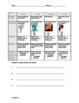 1st Grade Common Core Homework 2nd 9 Weeks