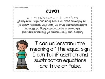 "1st Grade Common Core ""I Can"" Standards Posters {ELA & MATH BUNDLE}"
