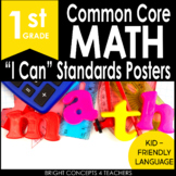 "1st Grade Common Core ""I Can"" Standards Posters {MATH ONLY}"