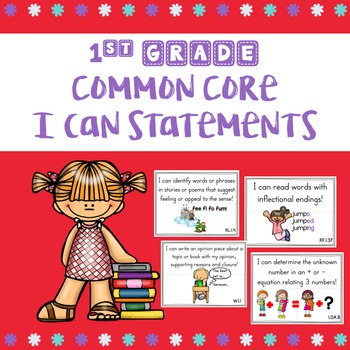 1st Grade I Can Statements with Visuals