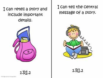 "1st Grade Common Core Language Arts ""I Can Statements"""