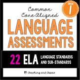 1st Grade Common Core Language Assessment