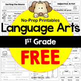 1st Grade Language Arts No-Prep Printables Freebie