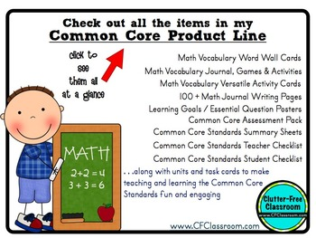 1st Grade Common Core Learning Goals {Posters, Targets, Objectives}