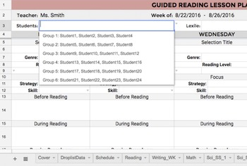 1st Grade Lesson Plan Template: All Subjects w/ Common Core & NGSS