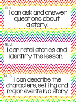 1st Grade Common Core Literacy Objectives