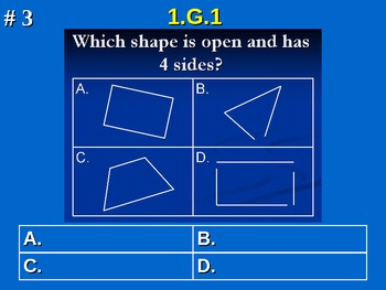 1st Grade Common Core Math 1 G.1 Distinguish Between Defining Attributes 1.G.1