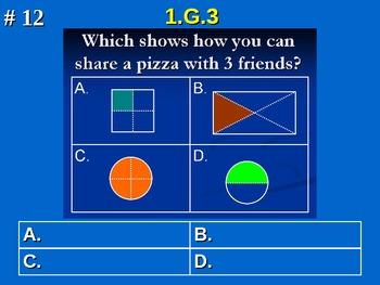 1st Grade Common Core Math 1 G.3 Reason With Shapes And Their Attributes 1.G.3