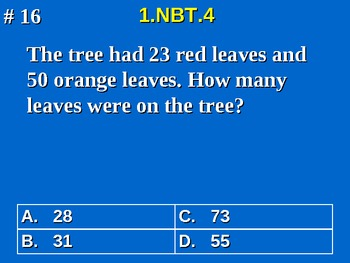 1st Grade Common Core Math 1 NBT.4 Add Within 100 Word Problems 1.NBT.4