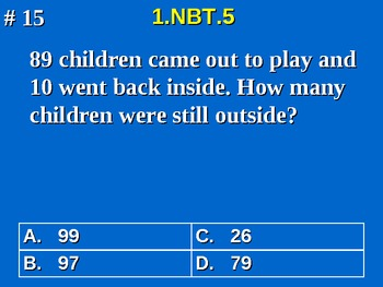 1st Grade Common Core Math 1 NBT.5 Mentally Find 10 More or Less 1.NBT.5