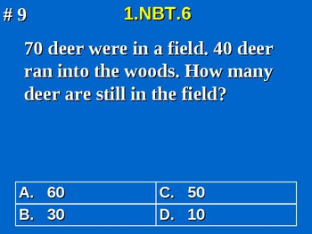1st Grade Common Core Math 1 NBT.6 Place Value Word Problems 1.NBT.6