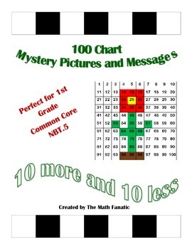 10 More/10 Less Mystery Pictures and Messages (1st Grade C