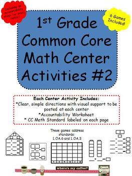 1st Grade Common Core Math Activity Centers #2