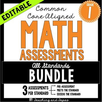 1st Grade Common Core Math Assessment - ALL STANDARDS